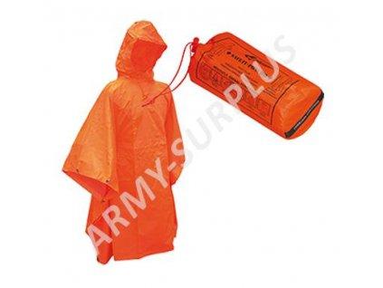 Pončo (poncho) záchranářské reflexní Safety Commando oranžové