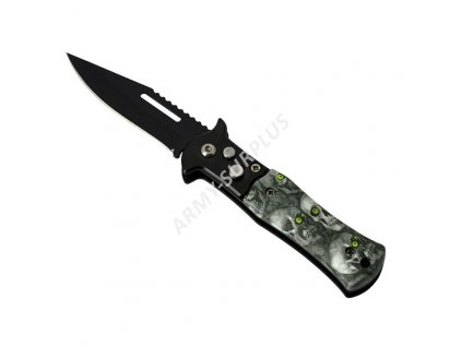 Nůž vystřelovací mini s lebkama