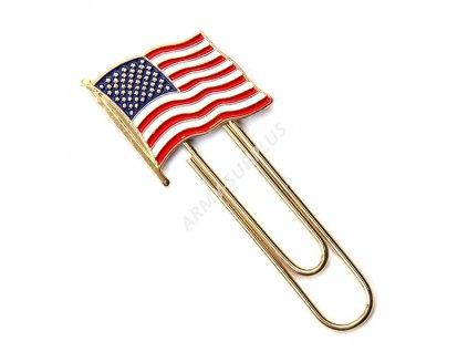 Klip (spona) na peníze vlajka USA