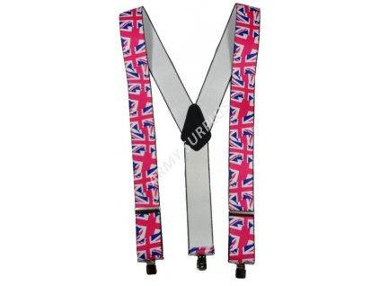 Kšandy britské s potiskem - Velká Británie vlajka vlající