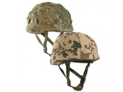 Potah (povlak,obal,převlek) na helmu BW (Bundeswehr) flecktarn tropentarn oboustranný