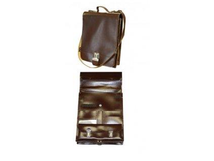 Brašna (taška) kožená hnědá ČSLA pro motospojky