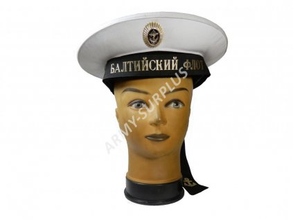 Brigadýrka (čepice) Rusko námořní bílá originál baltské flotily
