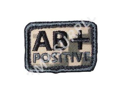Označení krevní skupiny AT-Digital (ACU) AB+ POSITIVE