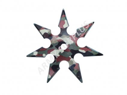 Vrhací (házecí)  hvězdice ninja shuriken camo 7 hrotů