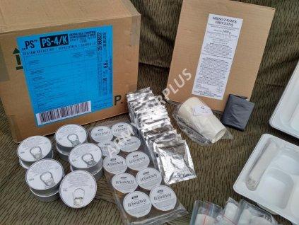 Bojová dávka potravy PS-4/k skupinová (MRE,BDP,ARPOL) Polsko Group food ration kit PS-4/k pro 10 osob originál