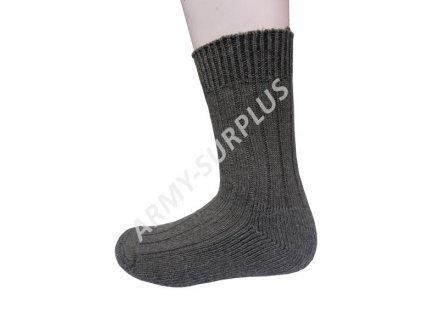 Ponožky skandinávské zimní teplé oliv