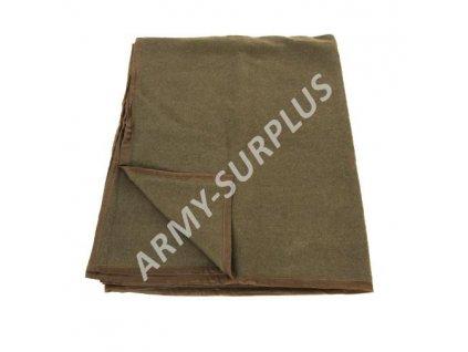 Deka Army khaki vlněná 235x140cm