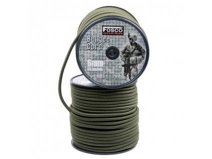 Gumová šňůra Bungee cord 6mm 30 metrů