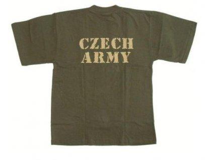 Tričko (triko) potisk Czech Army oliv