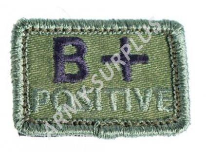 Označení krevní skupiny B+ POSITIVE - oliv