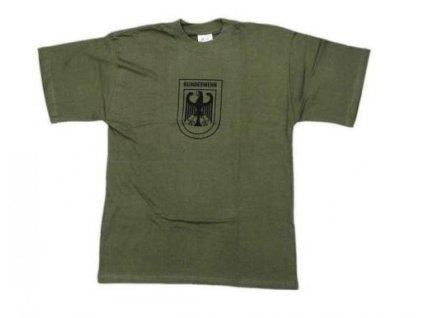 Tričko (triko) oliv potisk orlice Bundeswehr