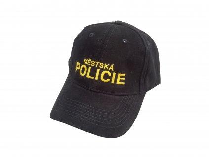 Čepice (Kšiltovka) Městská Policie černá žlutý nápis