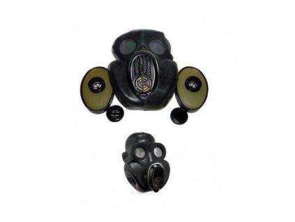 Plynová maska Rusko NBC oficírska  PBF  černá (gorila)