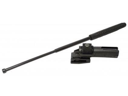 Teleskopický obušek kalený s rotačním pouzdrem černý ESP
