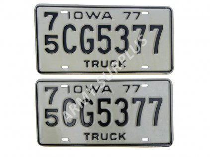 Poznávací značka na auto (License Plates) USA Iowa truck2 kusy