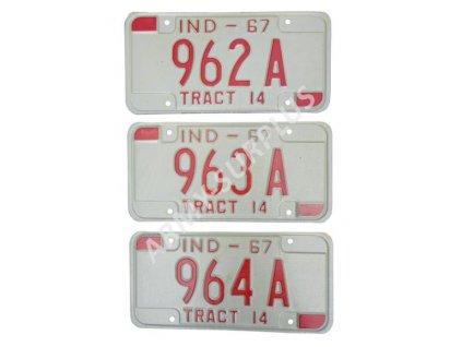 Poznávací značka na auto (License Plates) USA Indiana