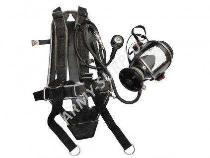 Plynová maska a nosný systém na tlakovou láhev pro hasiče PA 80 A Dräger