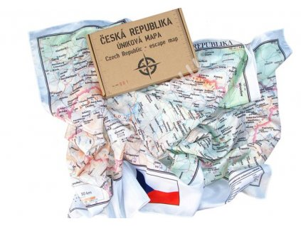 Úniková mapa Česká republika - Escape map Czech Republic