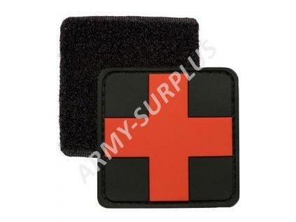 Nášivka Medic červený kříž 3D PVC suchý zip