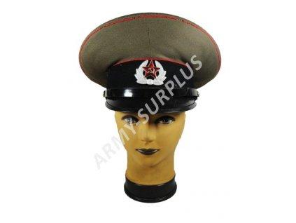 Brigadýrka Rusko černý lem plastový podbradník stříbrný znak
