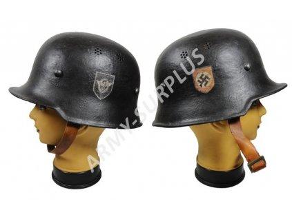 Helma (přilba) Německo Gestapo se značením