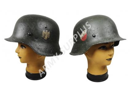 Helma (přilba) Německo M42 Wehrmacht (Heer) vykytovaná