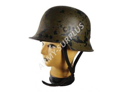 Helma (přilba) Německo Gestapo kožený podbradník