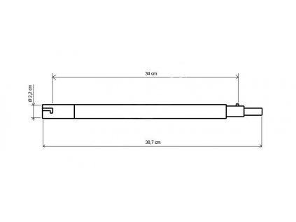 Segment tyče (kolík) NVA na postavení stanu (stanová tyč)