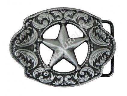 Přezka na opasek Sheriff (šerif) - starozinek  B0965