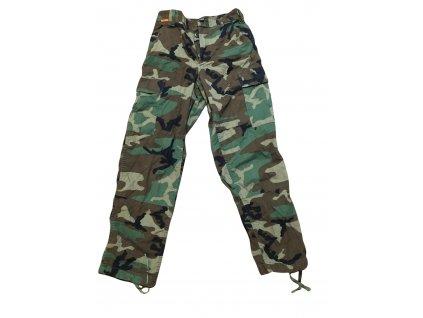 Kalhoty US BDU woodland original použité