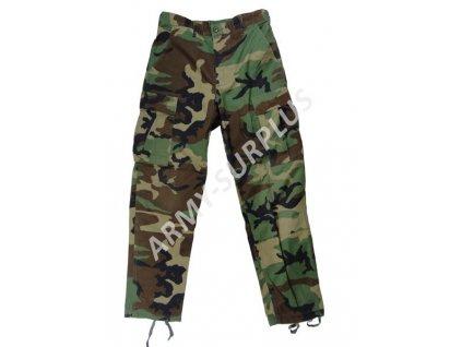 Kalhoty US BDU ripstop woodland originál