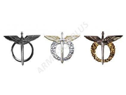 Set 3 leteckých odznaků AČR (pilot, navigátor, LPTZ) po roce 1995