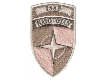 Nášivka NATO OTAN ISAF desert pouštní originál velcro