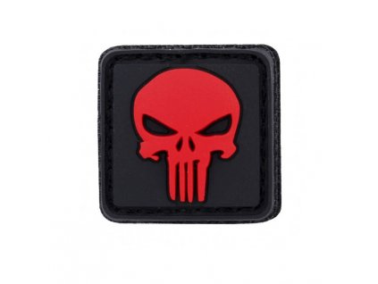 Nášivka 3D PVC Punisher malá červená