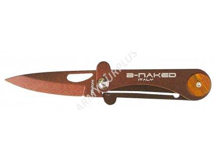 Nůž zavírací B-NAKED Beltrame Italy hnědá metalíza
