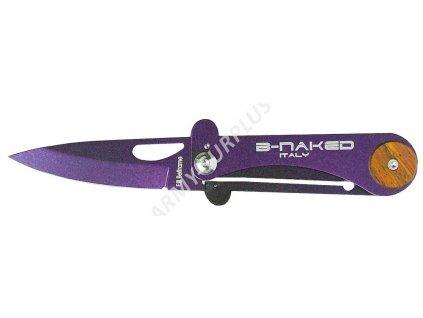 Nůž zavírací B-NAKED Beltrame Italy fialová metalíza