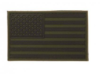 Nášivka vlajka USA bojová polní 3D PVC velcro 101.INC