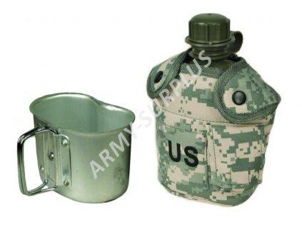 Polní láhev (čutora) US s hrnkem (pitítko) ACU