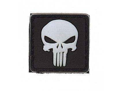 Nášivka 3D PVC Punisher bílá
