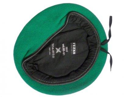 Baret AČR pozemní vojsko světle zelený