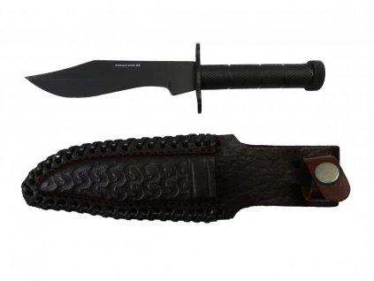 Nůž celokovový s koženým pouzdrem zdarma