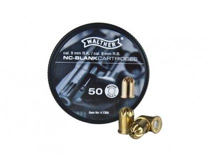 Startovací náboje (expanzní nábojka) 9mm pro plynové revolvery (slepý, poplašňák,) Walther 50ks