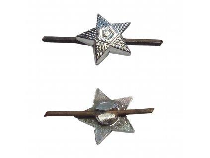 Odznak ČSLA hvězda stříbřitá malá praporčík