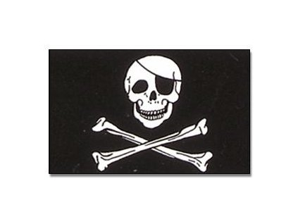 Praporek Pirát lebka č.029