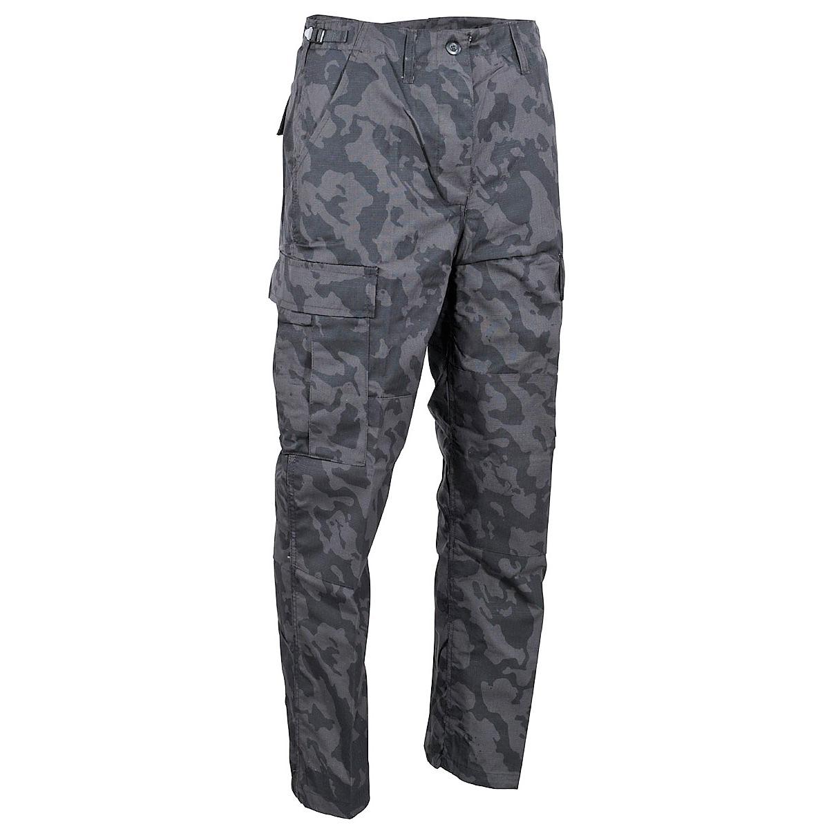 Kalhoty BDU night-camo ripstop MFH 01334K Vyberte velikost: 3XL