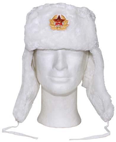 6bfa0719d00 MFH Čepice (beranice) ušanka ruská s odznakem bílá Velikost  L(58-