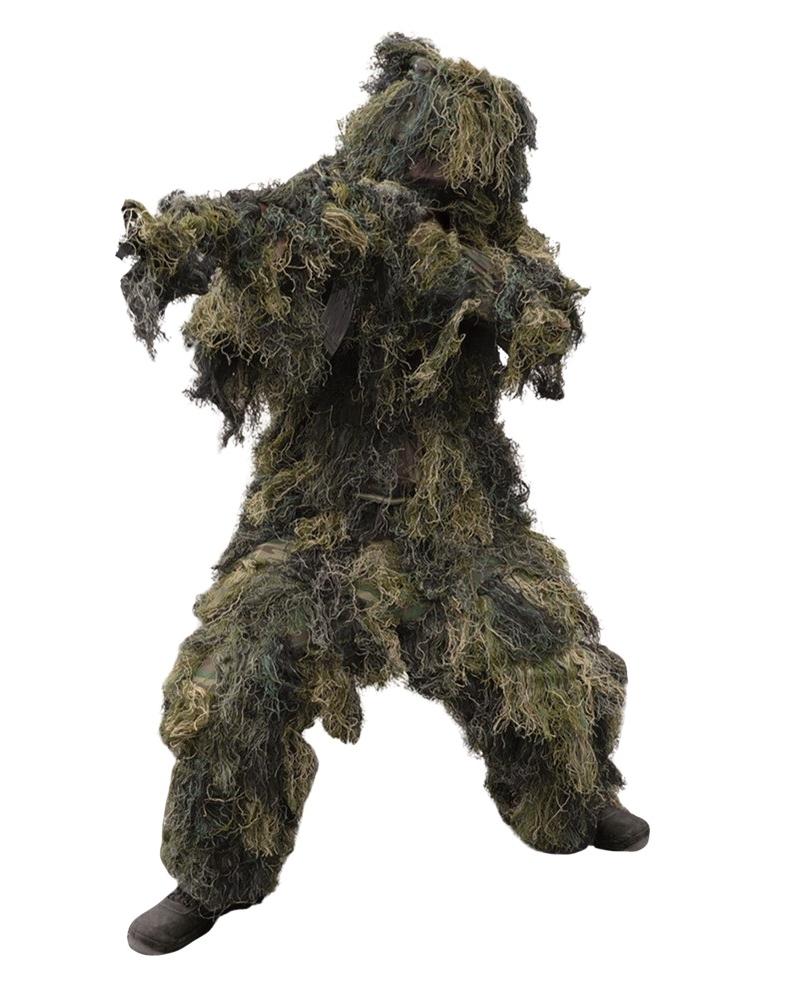 MILTEC Maskovací oblek Hejkal (Ghillie Suit) woodland 4-dílný Vyberte velikost: XL/XXL