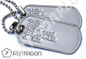 Identifikační známky US dog tags Pentagon - ražba ID známek