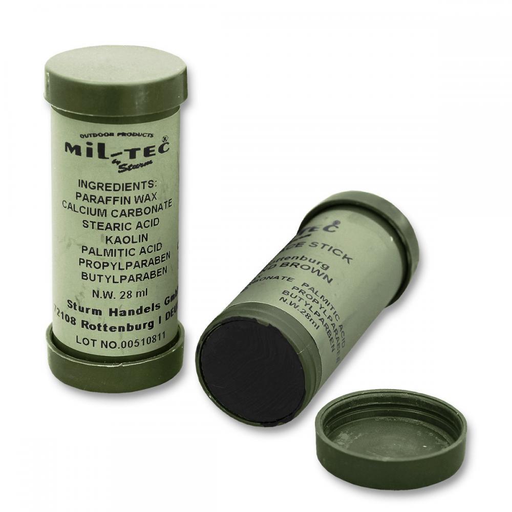 MILTEC Barvy maskovací tuba oboustranná černá+hnědá